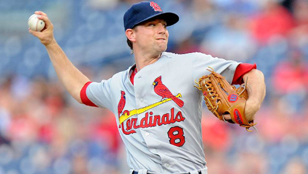 Former Cincinnati pitcher Mike Leake is now a member of the St. Louis Cardinals and will face the Reds on Tuesday.  (Photo Courtesy of The St. Louis Cardinals.com/Greg Fiume - Gettys Images)