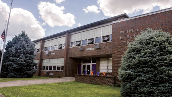 Front view of the former Whitwell Elementary School building located on South Fifth Street in Ironton.