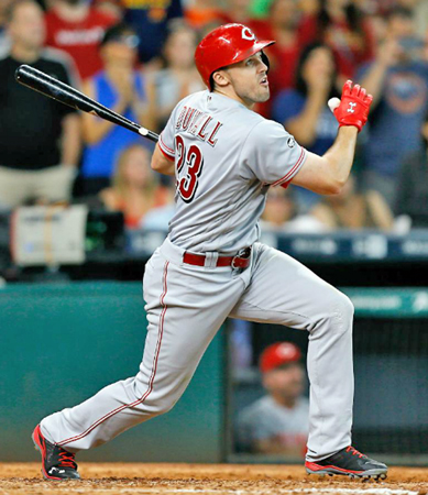Cincinnati Reds' outfielder Adam Duvall was named to the National League All-Star team on Tuesday and was asked to complete in the Home Run Derby this Monday. (Photo Courtesy of The Cincinnati Reds.com)
