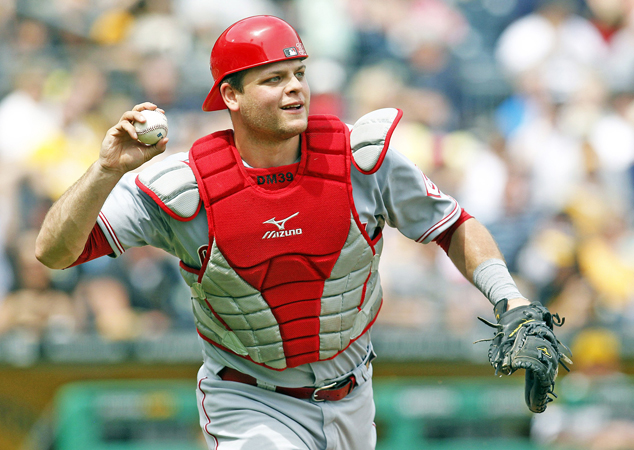 Cincinnati Reds' catcher Devin Mesoraco had hip surgery on Monday and will miss the rest of the season. (Courtesy of the Cincinnati Reds.com)