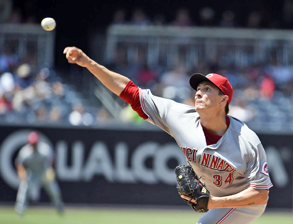Homer Bailey made his first appearance for the Reds in nearly a year as he pitched 5.2 strong innings and Cincinnati beat the San Diego Padres 3-2 on Sunday. (Photo Courtesy of The Cincinnati Reds.com)