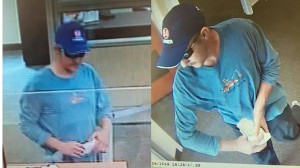 Courtesy of Ironton Police Department These photos show a man police said allegedly robbed the PNC Bank for an undetermined amount of cash on Tuesday afternoon.