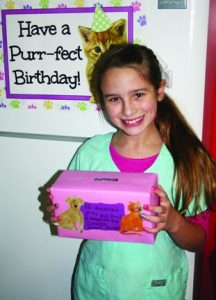 Isabelle Jenkins, 10, of Kitts Hill, used her birthday party as a fundraiser for the Lawrence County Animal Shelter.
