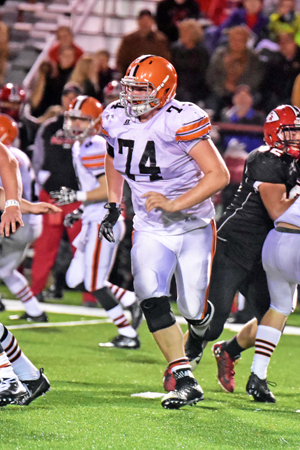 Ironton Fighting Tigers' senior lineman Tyler Webb has been selected to play in the 72nd annual Ohio High School Football Coaches Association North/South All-Star Game on April 29 in Massillon. Webb was a first team All-Ohio selection. (Kent Sanborn of Southern Ohio Sports Photos)
