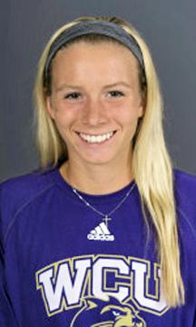 Western Carolina freshman tennis player Madison Riley, a former standout at South Point High School.